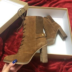 Michael Kors Carrigan Bootie in Brown Suede